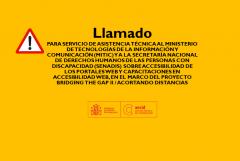 TÉRMINOS DE REFERENCIA   SERVICIO DE ASISTENCIA TÉCNICA AL MINISTERIO DE TECNOLOGÍAS DE LA INFORMACIÓN Y COMUNICACIÓN (MITIC) Y A LA SECRETARÍA NACIONAL DE DERECHOS HUMANOS DE LAS PERSONAS CON DISCAPACIDAD (SENADIS) SOBRE ACCESIBILIDAD DE LOS PORTALES WEB Y CAPACITACIONES EN ACCESIBILIDAD WEB, EN EL MARCO DEL PROYECTO BRIDGING THE GAP II / ACORTANDO DISTANCIAS