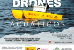 Demostración de los drones acuáticos de superficie para monitoreo de la  contaminación del Lago Ypacaraí