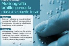Convocatorias Virtuales Plan INTERCOONECTA 2021: Curso virtual «Musicógrafia braille: porque la música se puede tocar»